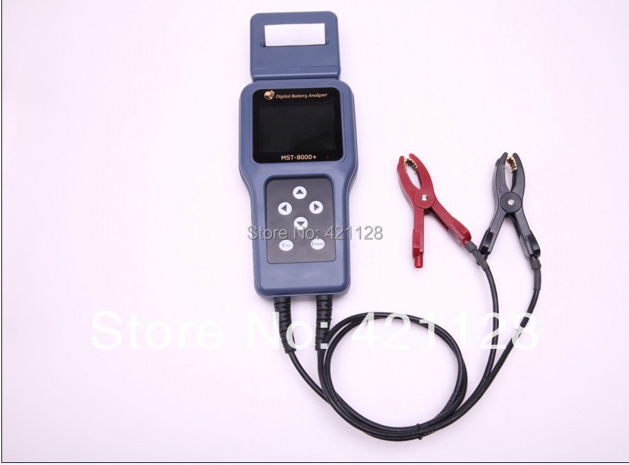 Professional battery analyzer tester MST-8000+ with detachable printer+ Multi-Language for 12V & 24V (cars,motor and trucks)(China (Mainland))