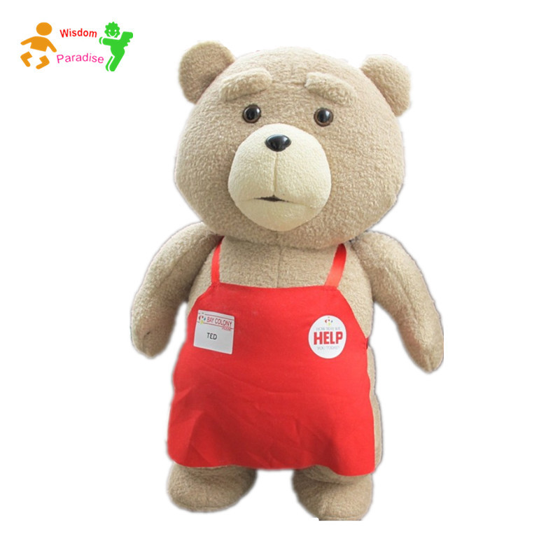 2015 Movie Giant Teddy Bear Ted 2 Plush Toys In Apron 48*22CM Soft Stuffed Animals Ted Bear Plush Dolls Stuffed & Plush Animals(China (Mainland))