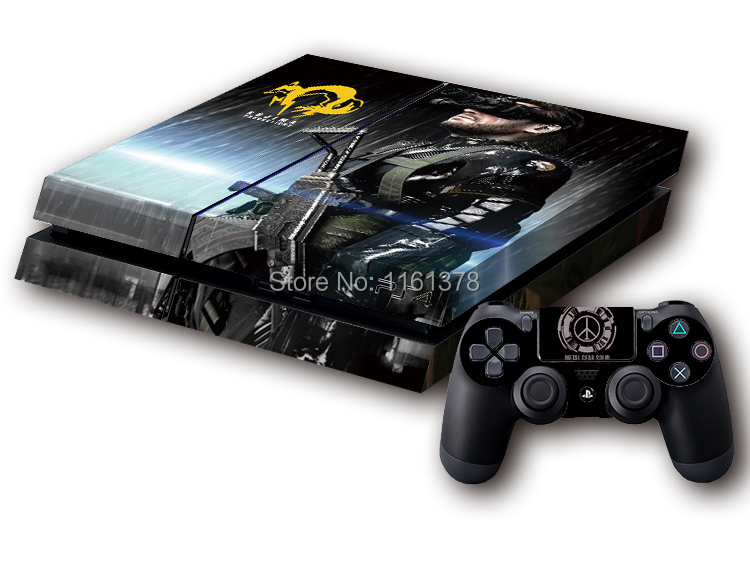 Metal Gear Solid Game MGS Big Boss Protective Decor Skin Sticker for SONY Playstation 4 Decal Stickers for PS 4 PS4(China (Mainland))