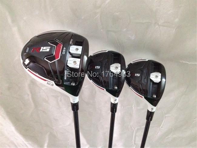RH - R15 Wood Set R15 Golf Woods OEM Golf Clubs R15 Driver + Fairways Regular&Stiff Flex Graphite Shaft Come With Head Cover(China (Mainland))