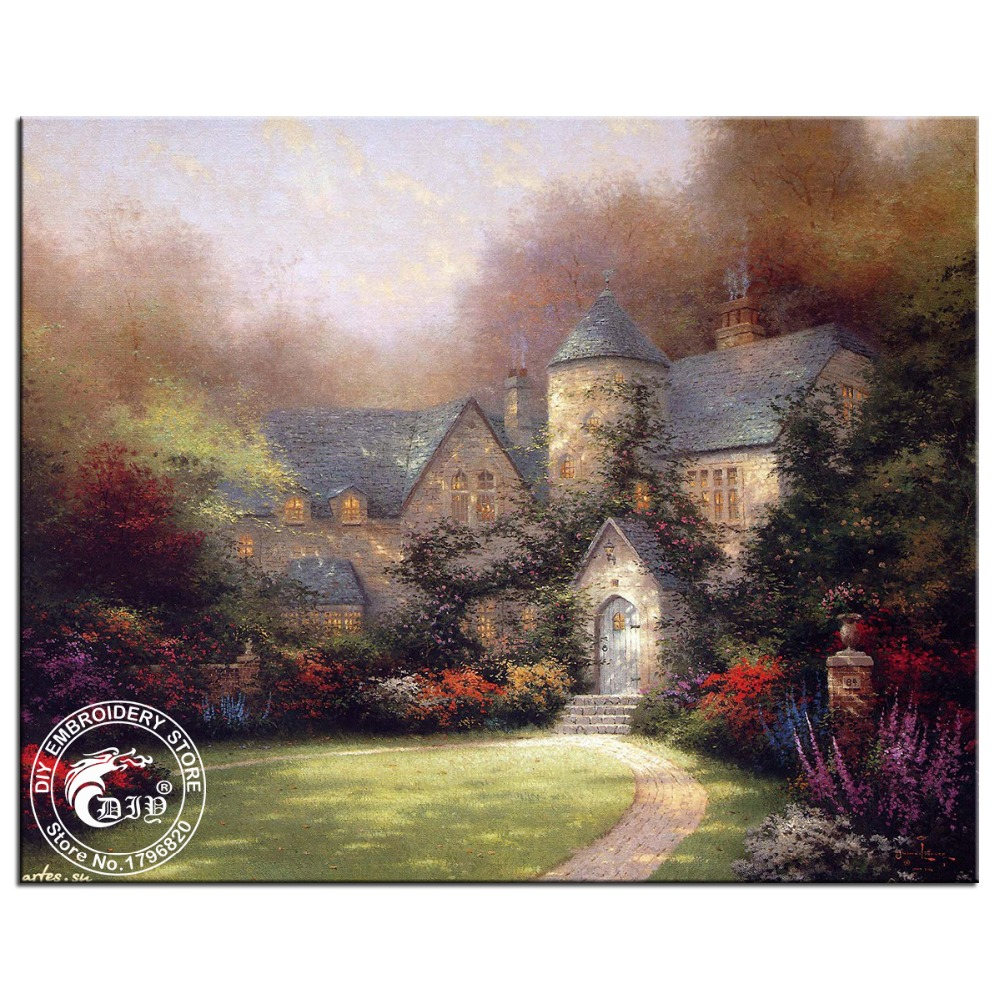 Hot 5D diamond embroidery diy Diamond painting square resin cross stitch waiting for the fall gift for home decor scenery series(China (Mainland))