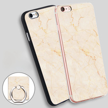 Buy marble simple light gold Phone Ring Holder Soft TPU Silicone Case Cover iPhone 4 4S 5C 5 SE 5S 6 6S 7 Plus for $2.24 in AliExpress store