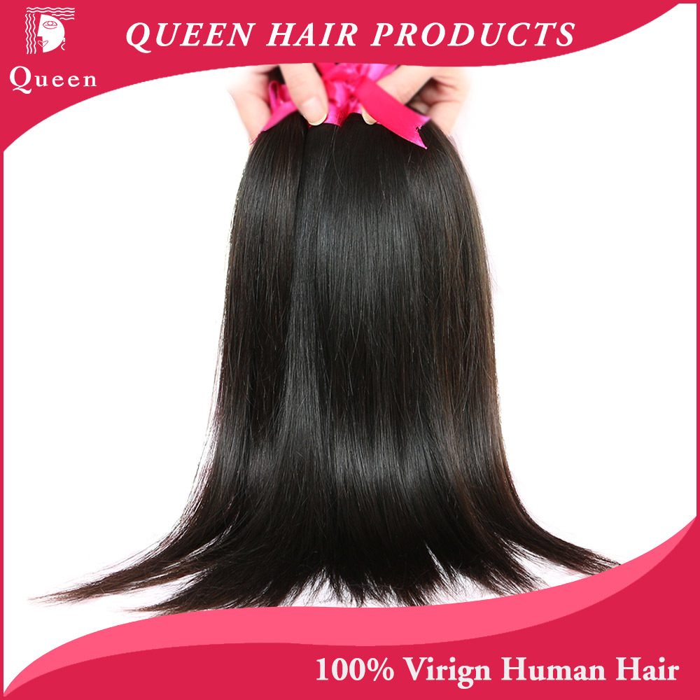 Brazilian Virgin Hair Straight 3pc/lot Queen Hair Products 100% Unprocessed Virgin Human Hair Weave Brazilian Straight Hair(China (Mainland))