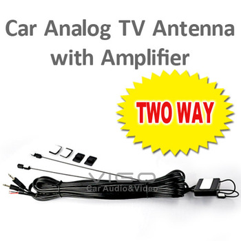 Top Quality Car TV Antenna Aerial Amplifier Booster Signal Vehicle Amplified Vehicle Stereo Ant free shipping Worldwide