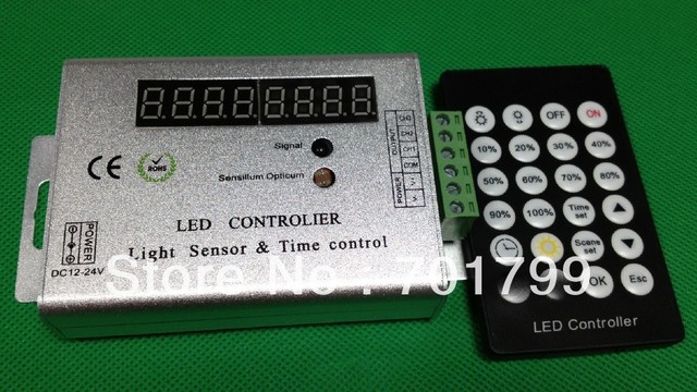 led light dimmering controller with sensor and timing function,DC12-24V input