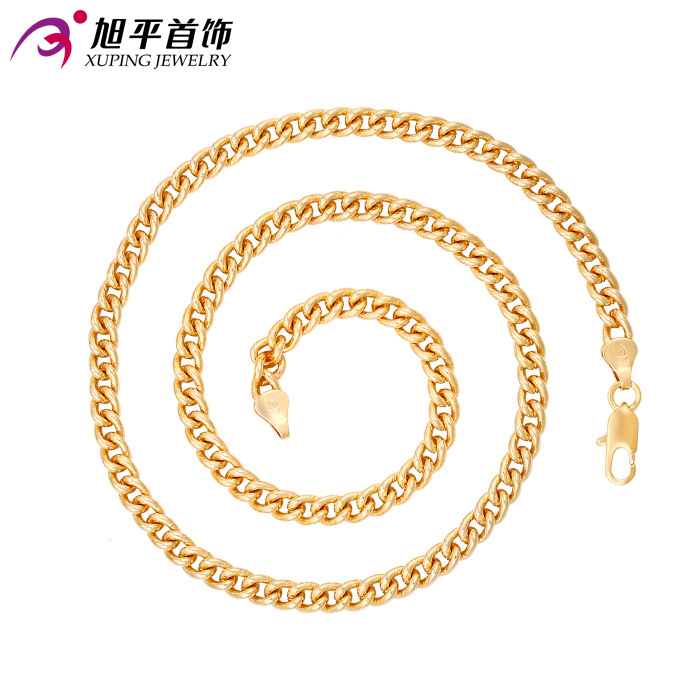Xuping Fashion Necklace New Design Big Long Necklace18K Gold Color Plated Necklace Women Men Chain Jewelry Top Sale Gift 42623(China (Mainland))