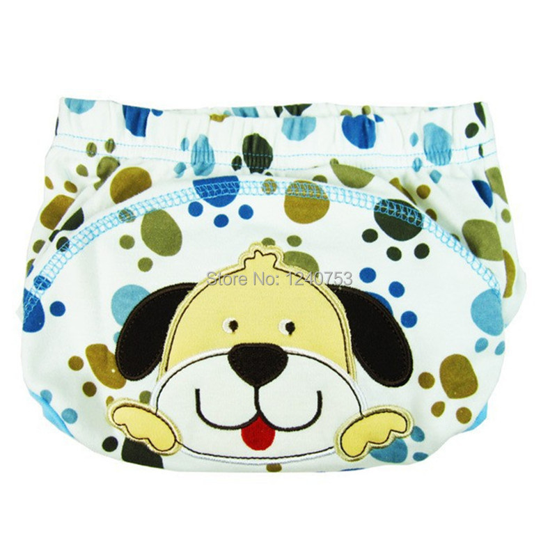 2 piece cotton baby washable cloth diaper reusable nappies / LABS training pants briefs infant boy girl underwear