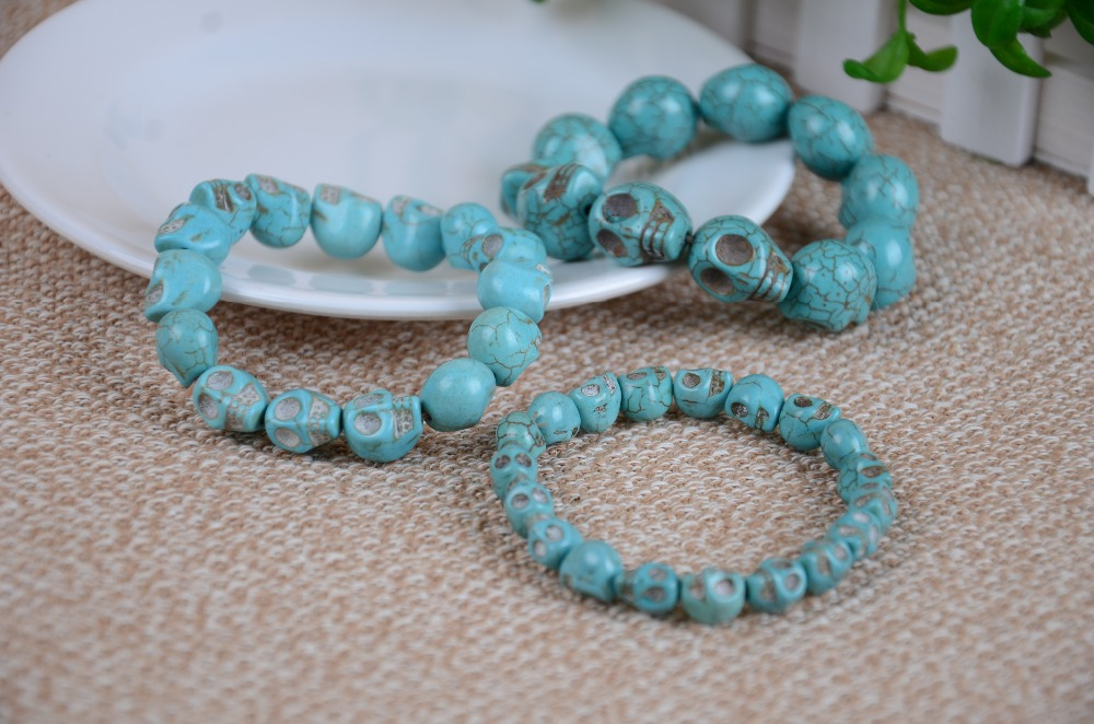 Natural turquoise color flexible bracelet, pure turquoise jewelry, wholesale and retail prices, free delivery(China (Mainland))