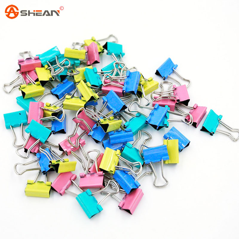 60pcs Colorful Metal Binder Clips 15mm Notes Letter Paper