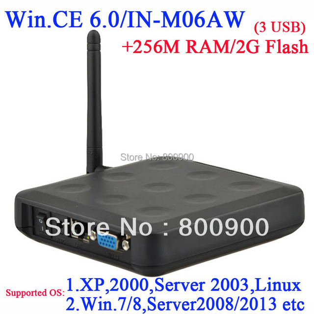 N380W thin station terminal with RDP 256M Ram 2G Flash embedded WIN.CE 6.0 black wifi windows and linux server support