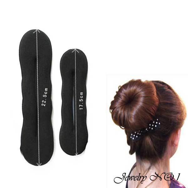 Fashion Women's Jewelry Black Headwear Head Steamed Stuffed Maker Head Hair Stick Tape Tool Sponge Hair Maker(China (Mainland))