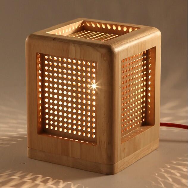 New wood desk lamp room ledmodern table lamps for living room(China (Mainland))