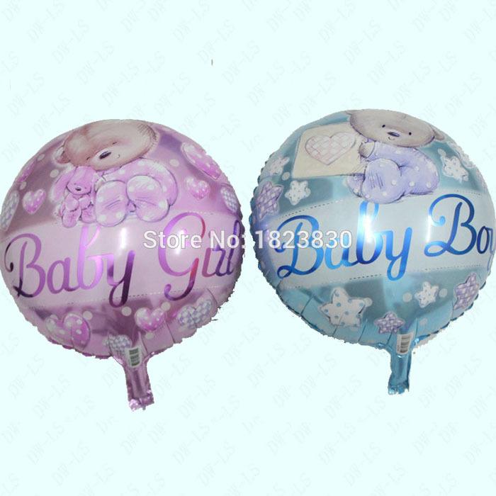 50pcs/lot bear round helium balloons party balloon birthday baby boy&baby girl 18inch Aluminum balloon air ball Inflation balon(China (Mainland))