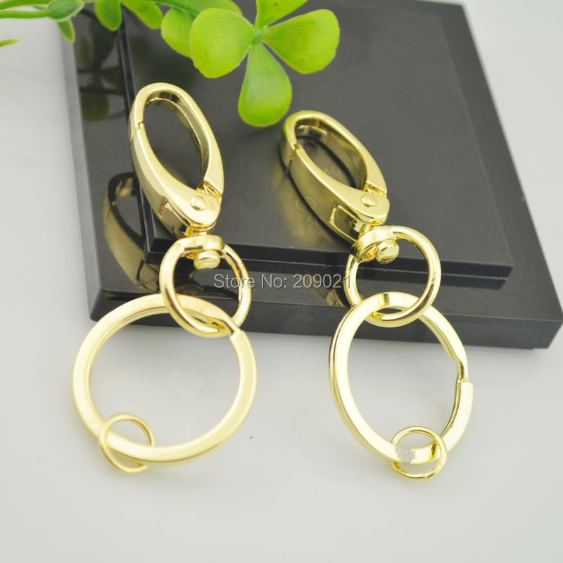 DIY 50Sets Gold Plated Lobster Clasps Swivel Trigger Clips Snap Hooks Bag Key Ring Jewelry Making - Pallas-Jewelry Co.Ltd ( store)