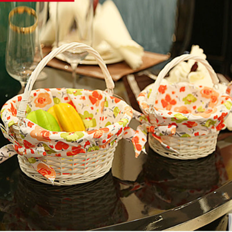 Small Large wicker storage baskets organizer for fruits eggs vintage wicker picnic basket for outgoing decorative wicker baskets(China (Mainland))
