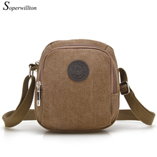 Soperwillton Hot Sale 2016 New Men Messenger Bags Canvas Man Mini Shoulder Bags Casual Male Famous Design Brand Sport Bags J516