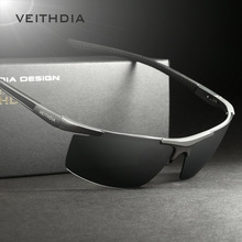 VEITHDIA Aluminum Magnesium Men's Sunglasses Polarized Coating Mirror Sun Glasses oculos Male Eyewear Accessories For Men 6588(China (Mainland))