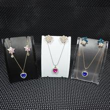 Mini Size Plastic Set Jewelry Display Necklace Mannequin Earrings Stand Holder Rack - un Such store