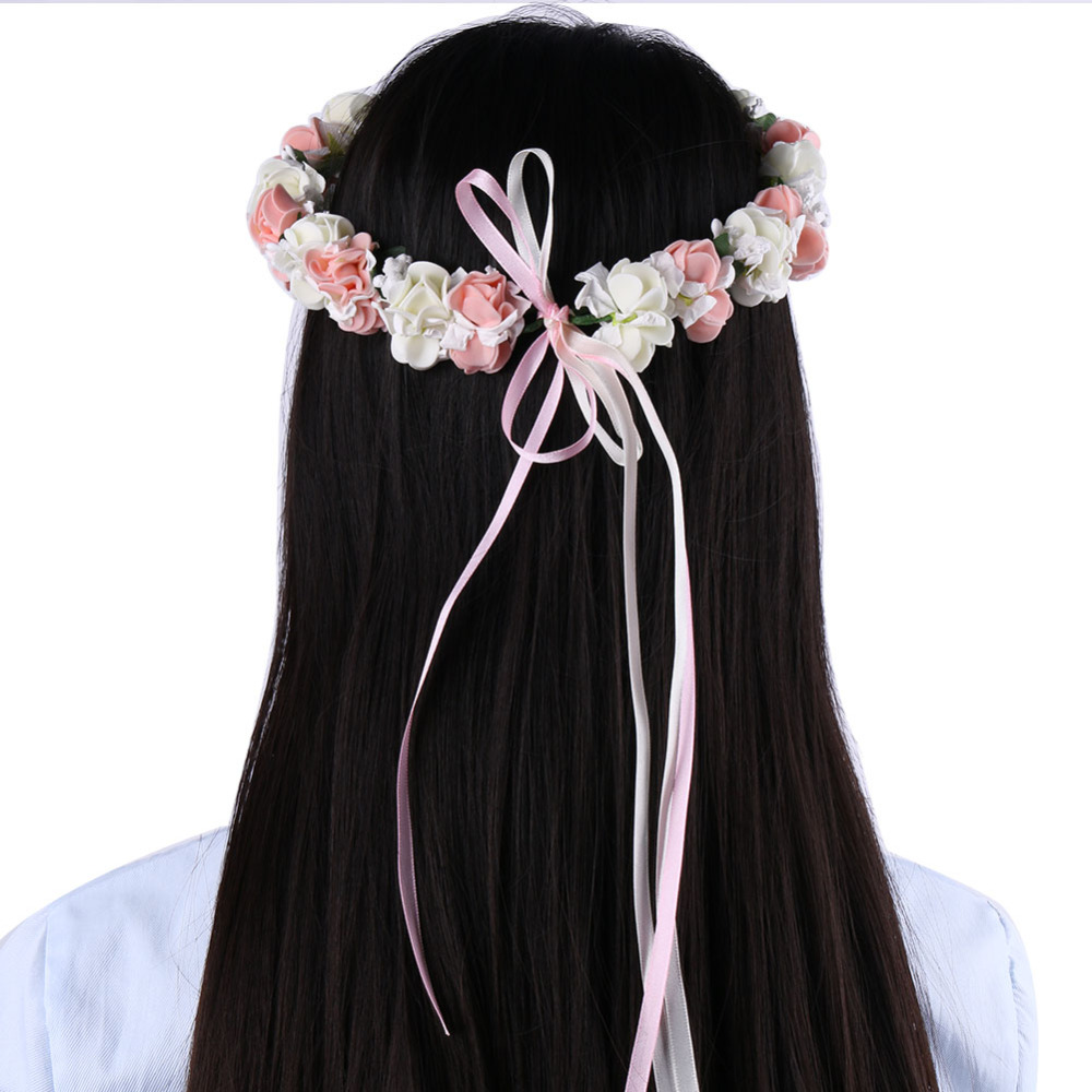 Beautiful Bridal Floral Wreath Flower Garland Small Forest Wreath Flower Bride Headdress for Wedding Party Cheap Wedding Favors(China (Mainland))