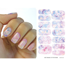 Water Transfer Foil Nails Sticker Pink Flower Nail Stickers Manicure Tools Water Film Paper Decals(China (Mainland))