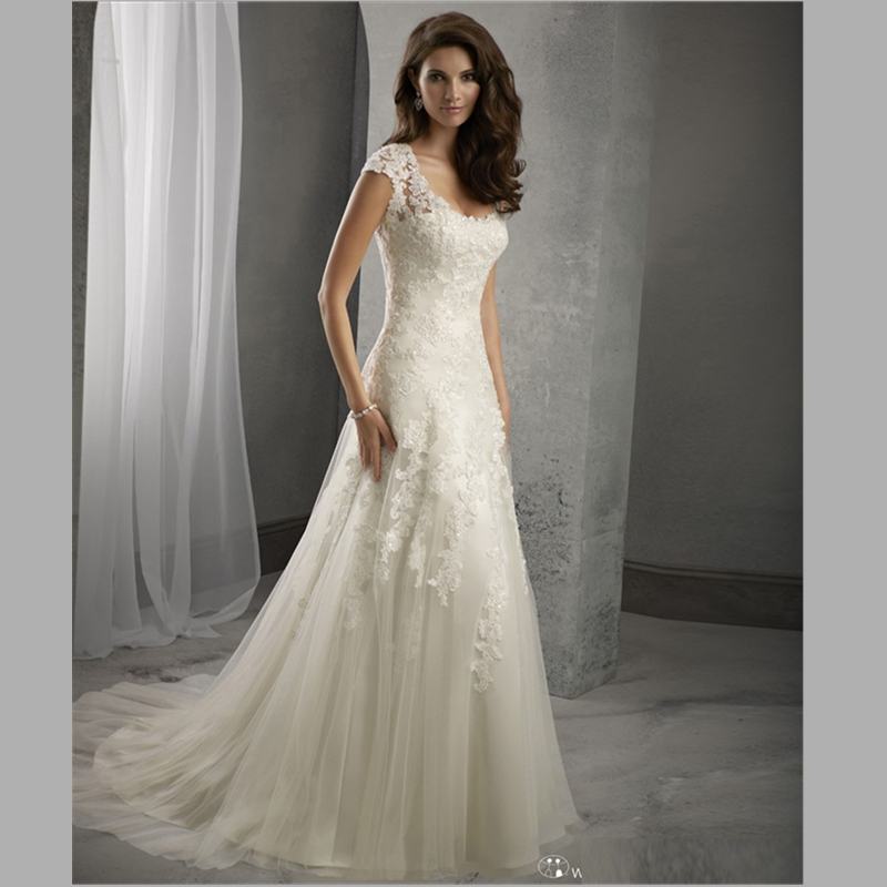 Buy vestido de noiva praia open back lace for Where to buy yasmine yeya wedding dresses