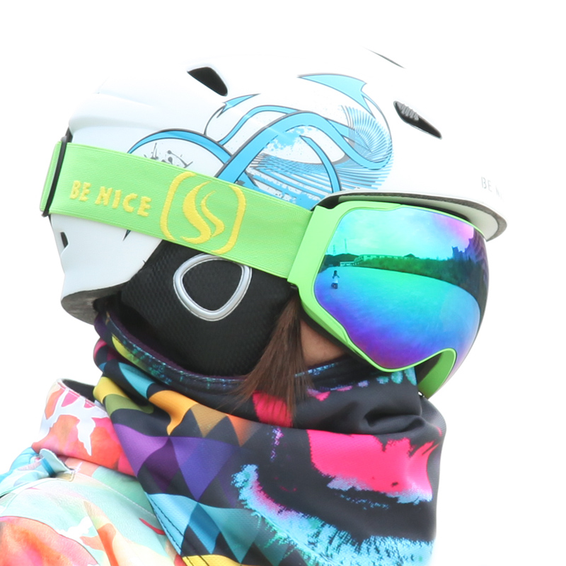 BENICE Fashion Snow Glasses /UV- Protection Multi-Color/ double anti-fog lens Snowboard Skiing Goggle with free bag(China (Mainland))
