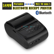 2 inches ZJ-5802LD mini Android Bluetooth port thermal Receipt printer thermal printer(China (Mainland))