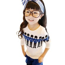 New Fashion Toddler Kids Girl Blouse Crew Neck Long Sleeve Shirt Cotton Casual Tops Blouse