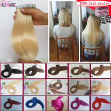 """Tape In Human Hair Extensions 40 pieces 100g Brazilian Human Hair 18"""" 20"""" 22"""" 24"""" Skin Weft Tape Hair extensions Free Shipping(China (Mainland))"""