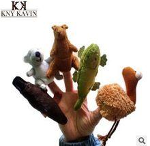 Australia Koala five animals  finger puppets even kangaroos fantoches crocodile finger even platypus hand puppet plush baby doll(China (Mainland))
