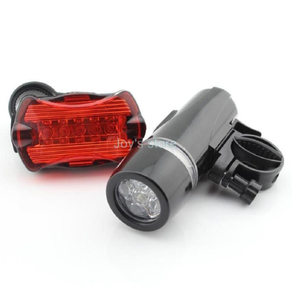 5 LED Lamp Bike New Waterproof Bicycle Front Head Light+Rear Safety Flashlight(China (Mainland))
