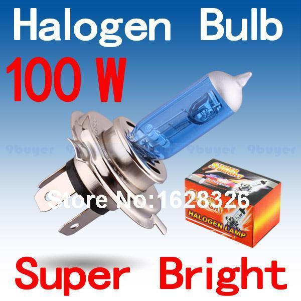 H4 100W 12V Halogen Bulb h4 super white Fog Lights High Power Car Headlights Lamp Car Light Source 6000K parking(China (Mainland))