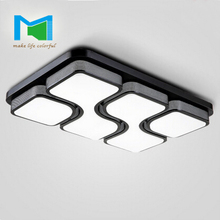 KM Modern LED ceiling lamp simple living room lamp rectangular ceiling lighting lamps wholesale agent(China (Mainland))