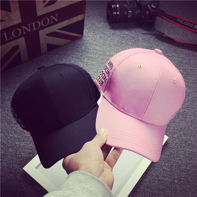Black White Pink New Antisocial Social Club Weird Baseball Cap Curved Ball Hat Women Men's Snapback Hat Outdoor Sports Strapback(China (Mainland))
