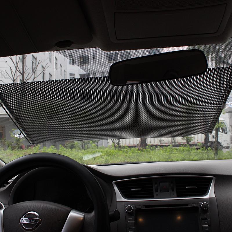 125*58cm Summer style Retractable Car Curtain Front/back Windshield Sunshade Shield Visor(China (Mainland))