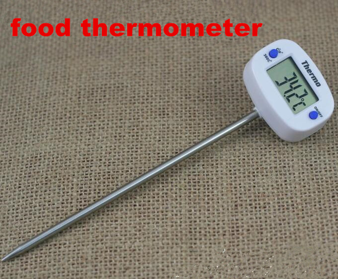 New Indoor Digital LCD display Cooking Food Thermometer tester Kitchen Stainless Steel Sensor Probe temperature meter(China (Mainland))