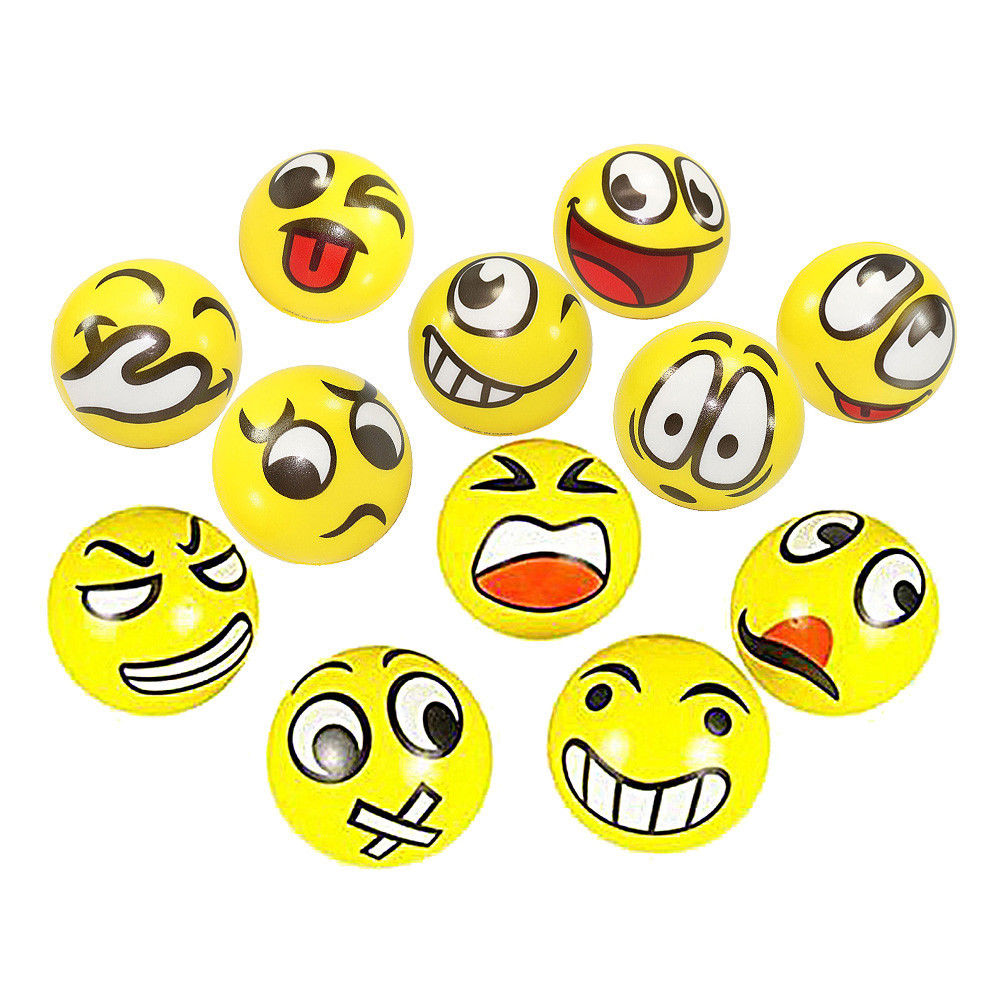 FUN Emoji Face Squeeze Balls 12 Stress Relax Emotional Toy Office Holiday Gift Party Supplies(China (Mainland))