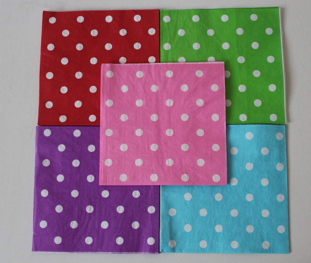 Manufacturers supply color napkins, printed napkin, paper towel, paper napkin can be customized(China (Mainland))