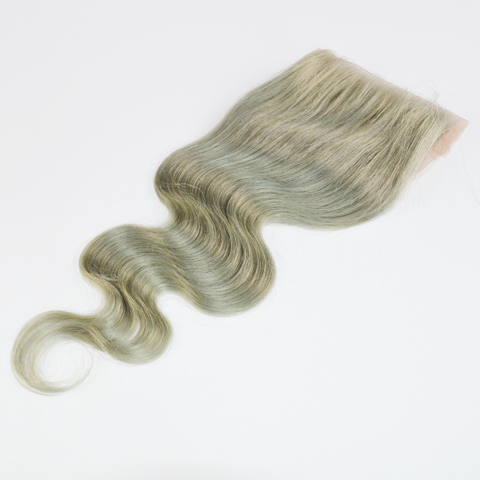 130% Density Peruvian hair pieces #1B/gray hair closure front closure body wave 4x4 free/middle/three part bleached knots<br><br>Aliexpress