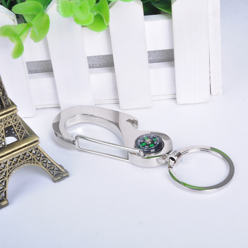 New 2015 Creative and practical waist hanging Multifunction Key Chain Wholesale Keychain Compass Gifts Key Ring X60*HM581W#M2(China (Mainland))
