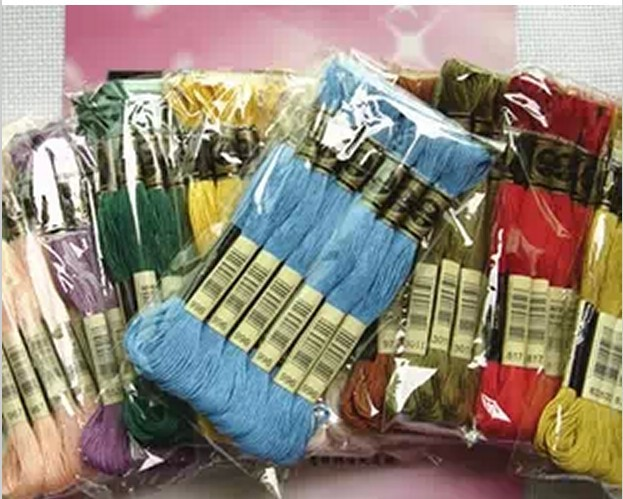 Гаджет  New 1Lot= 50 Pieces Cross Stitch Embroidery Thread Floss Cotton thread  Similar DMC 8 meter Long 6 Strands None Дом и Сад