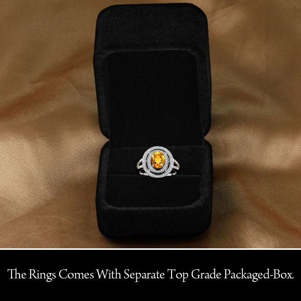 Подлинная 925 ювелирных украшений естественно цитрин кольцо 925 стерлингового серебра ну вечеринку кольца для женщин ( приходят с коробка ) ( JewelOra RI101418 )