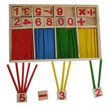 Free Shipping! Baby Toy Wooden Blocks Montessori Educational Toys Mathematical Intelligence Stick Building Blocks gift