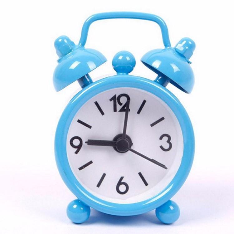 40mm Mini Metal Alarm Clock Portable Home Outdoor Lovely Cartoon Watch Retro Gift For Children Friends Metal Alarm Clock Desktop