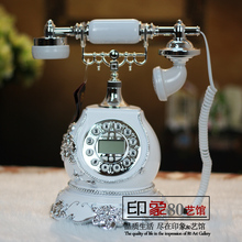 After shipping modern neo classical hotel model room decorative handicrafts telephone ornaments housewarming gift opening