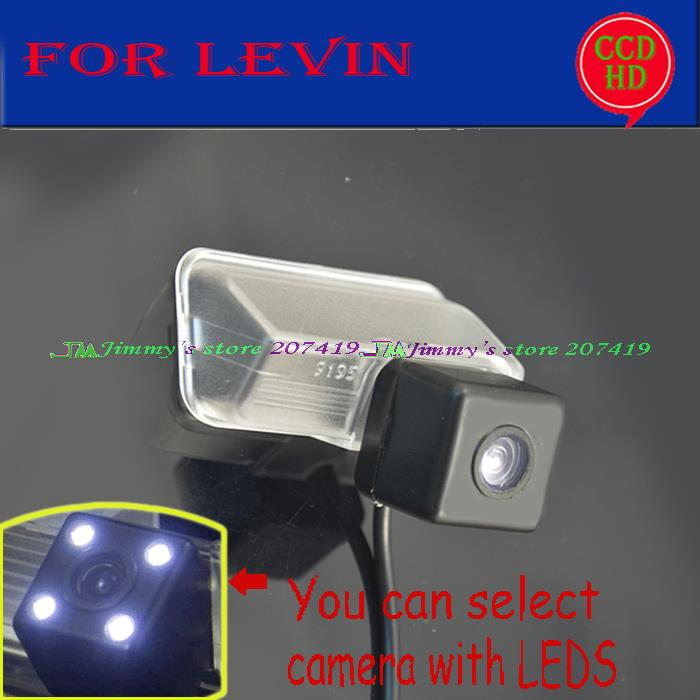 wireless wire for sony ccd LEDS car reverse parking rearview camera for TOYOTA LEVIN 2014 wide angle color night vision(China (Mainland))