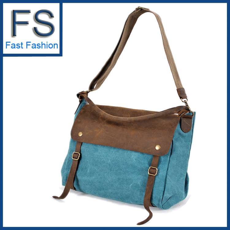 2013 FREE SHIPPING Crazy horse leather finishing retro vintage canvas bags for women travel bag cross-body handbag 7 colors(China (Mainland))