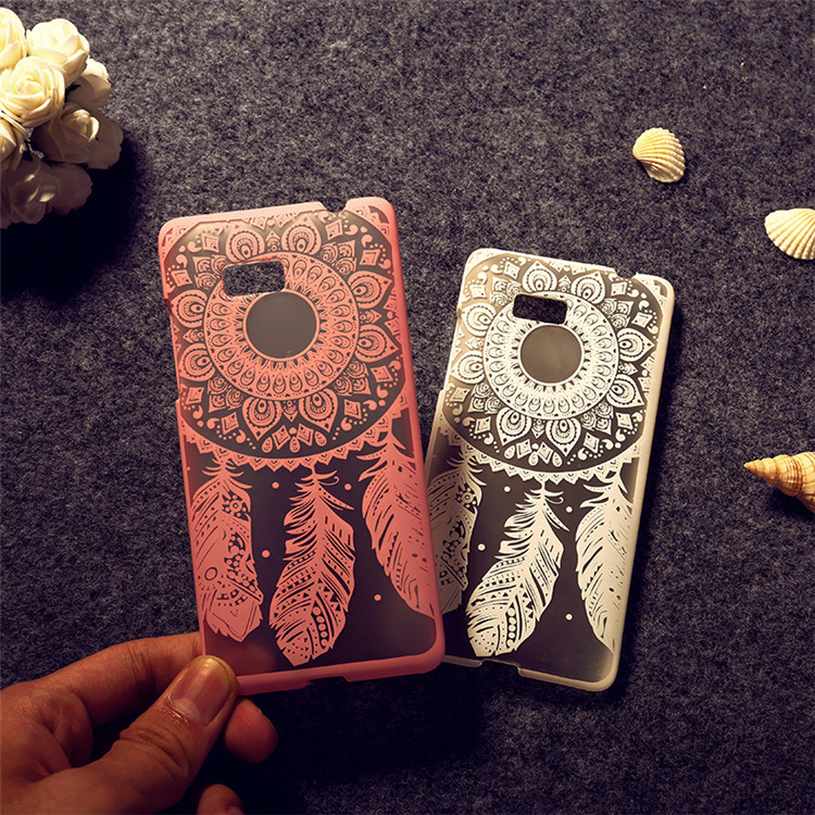 For HTC 600 Case Cover, Fashion Diy Colored Hard PC Phone Case Cover FOR HTC Desire 600 Dual SIM 606W Dream Catcher Sheer Bags(China (Mainland))