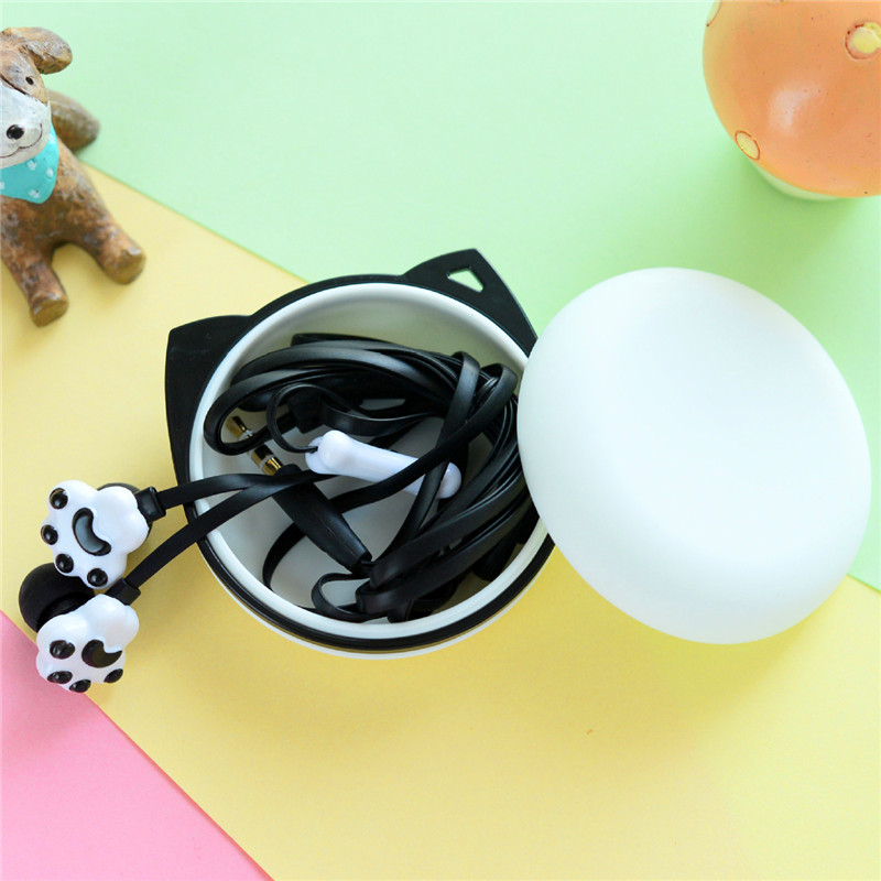 Hot Sale Cartoon Earphones Cute Candy Color 3.5mm Jack Headphones With Microphone For Mobile Phones Original Box Gift Case M133(China (Mainland))