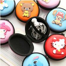Headphone Coin Purse Printing Bag Change Coin Purse For Girl Anime Retro Sillcon Coin Purse Bag